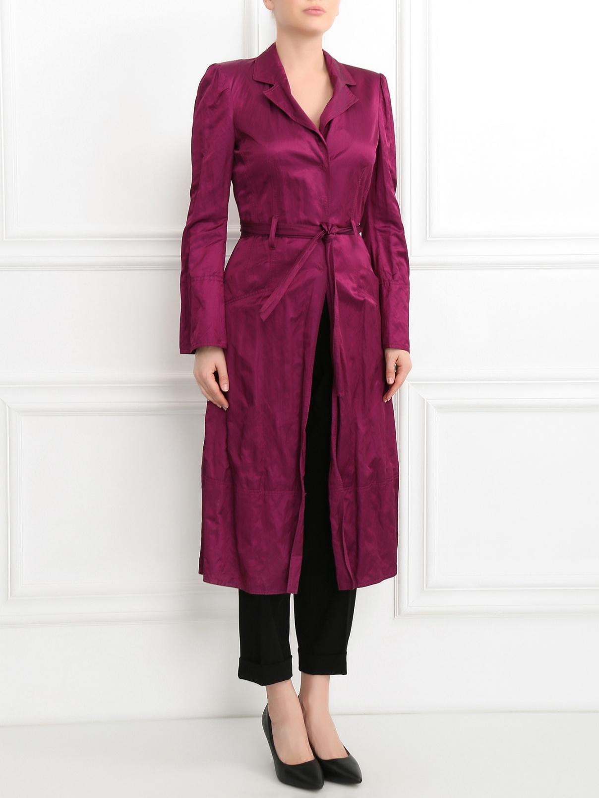 Плащ с расклешенными рукавами Mariella Burani  –  Модель Общий вид  – Цвет:  Фиолетовый