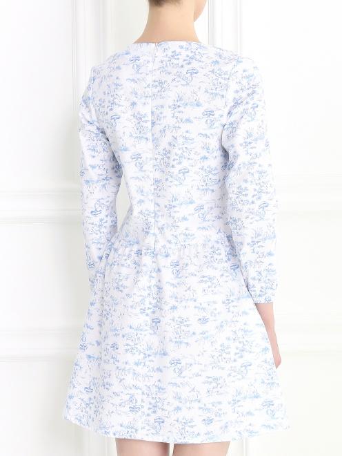 Платье-мини с длинным рукавом - Модель Верх-Низ1
