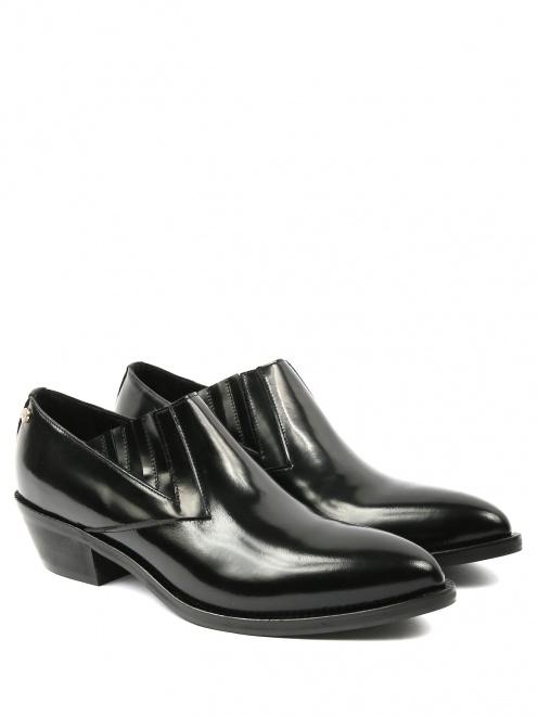Ботинки из гладкой кожи - Общий вид