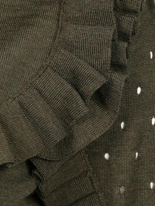 Джемпер из шерсти с рюшами - Деталь1