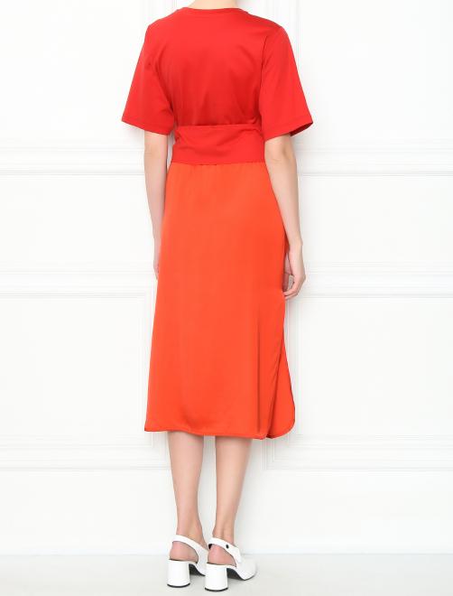 Платье-миди с короткими рукавами - МодельВерхНиз1