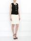 Платье-мини с бантом и декоративными пуговицами Moschino  –  Модель Общий вид