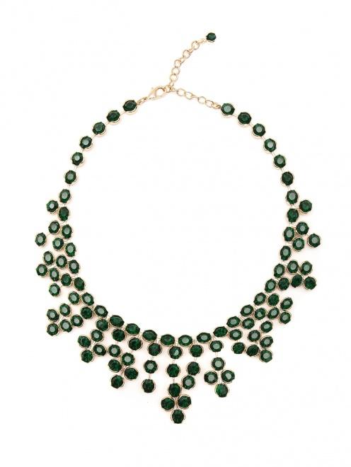 Ожерелье из металла и кристаллов - Общий вид