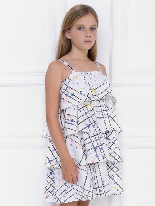 Платье ярусное из хлопка - МодельВерхНиз