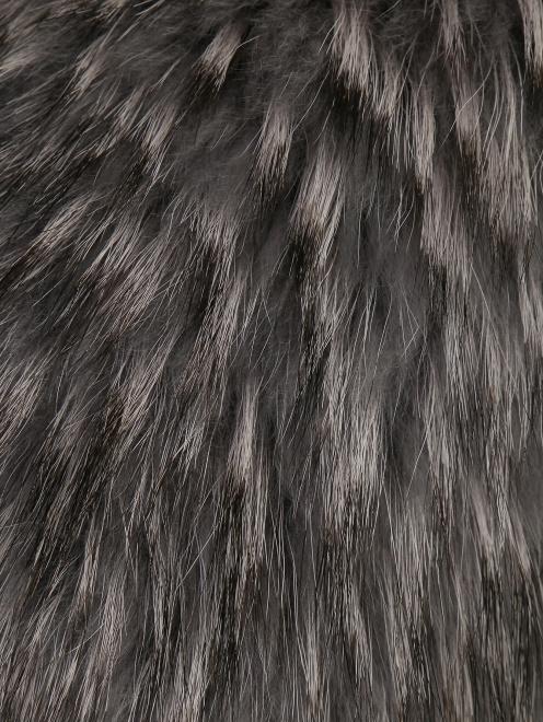 Пальто из шерсти с отделкой из меха с накладными карманами - Деталь1