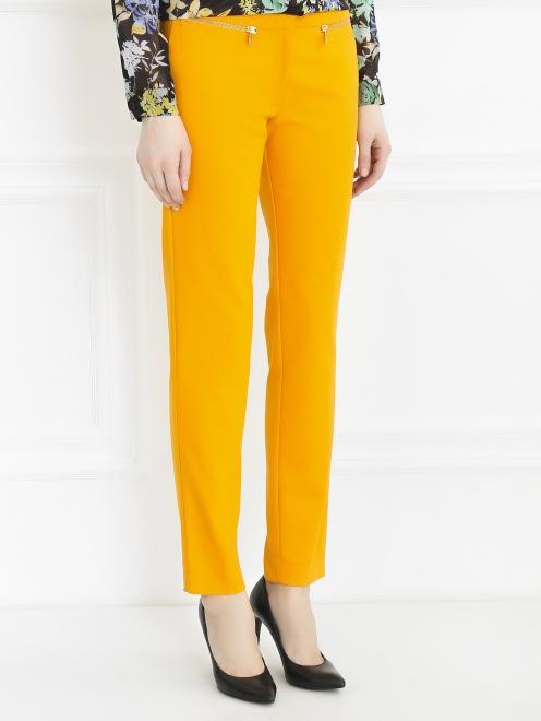 Укороченные брюки из хлопка и нейлона  - Модель Верх-Низ