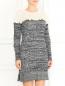 Трикотажное платье из шерсти фактурной вязки Philosophy Di Lorenzo Serafini  –  Модель Верх-Низ