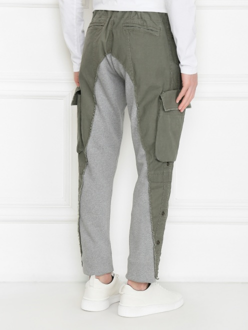 Комбинированные брюки карго из смешанного хлопка - МодельВерхНиз1