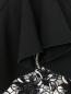Юбка-мини из вискозы и хлопка с декоративной отделкой Giambattista Valli  –  Деталь