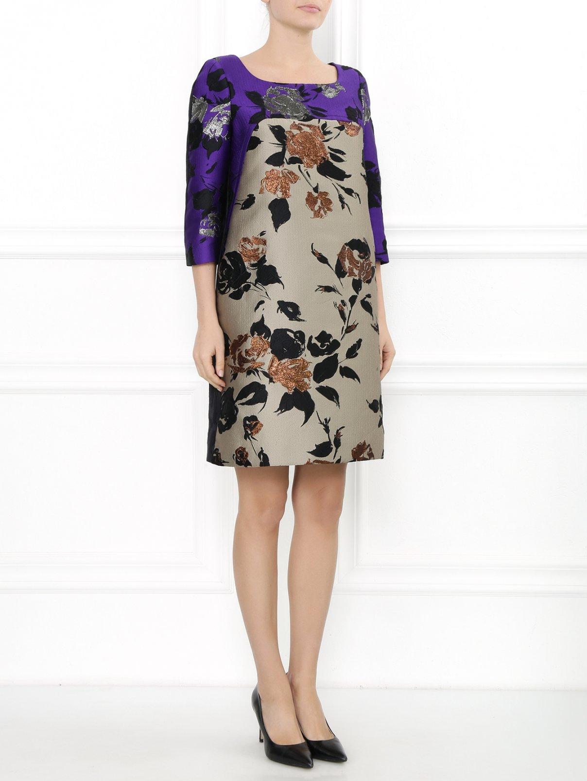 Платье-мини из парчи с узором Antonio Marras  –  Модель Общий вид