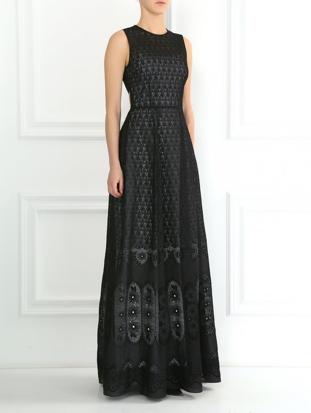 Платье-макси из шелка N21  –  Модель Общий вид