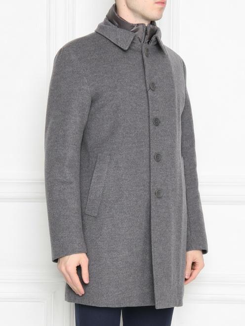 Пальто из кашемира на пуговицах  - МодельВерхНиз