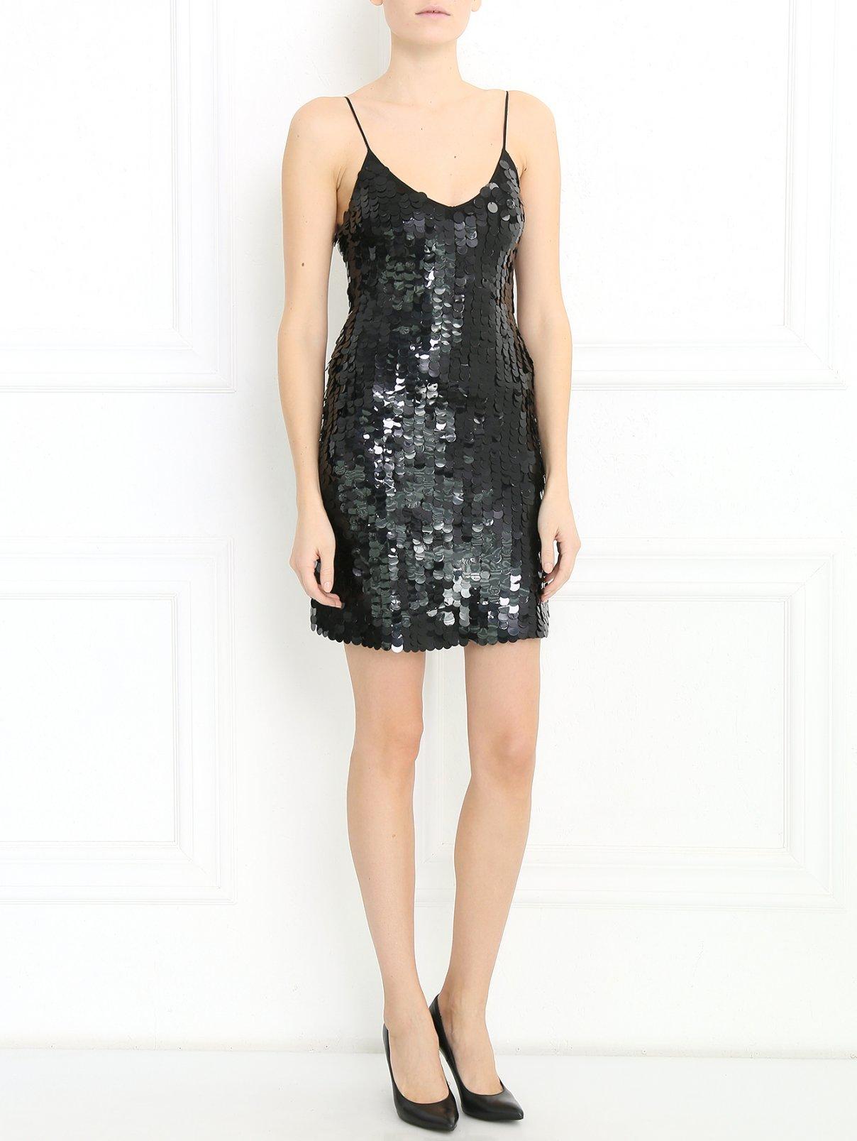Платье-мини расшитое пайетками Blugirl Blumarine  –  Модель Общий вид