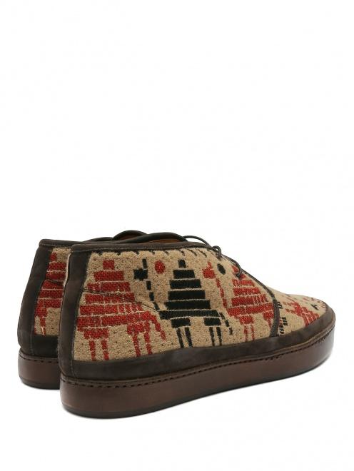 Ботинки из кожи с узором - Обтравка2