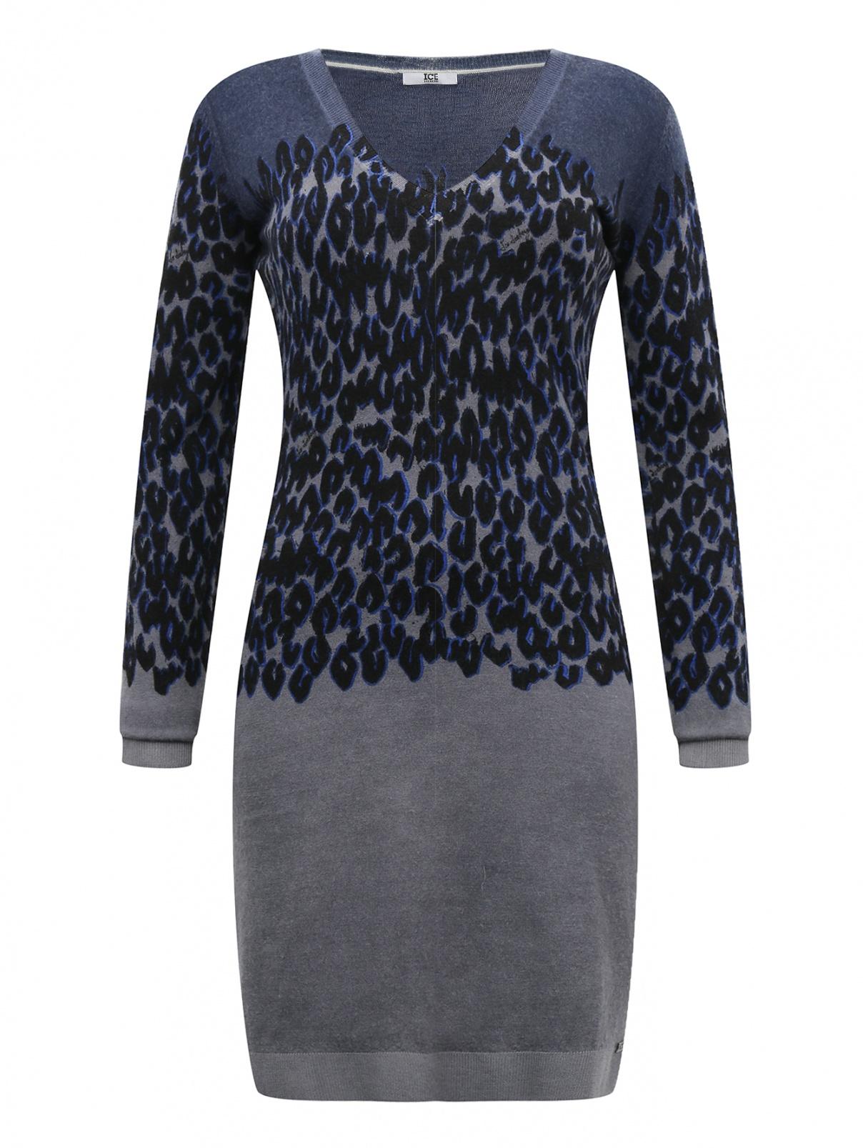 Платье из шерсти с узором ICEBERG  –  Общий вид