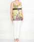 Брюки из хлопка прямого кроя Marina Rinaldi  –  Модель Общий вид
