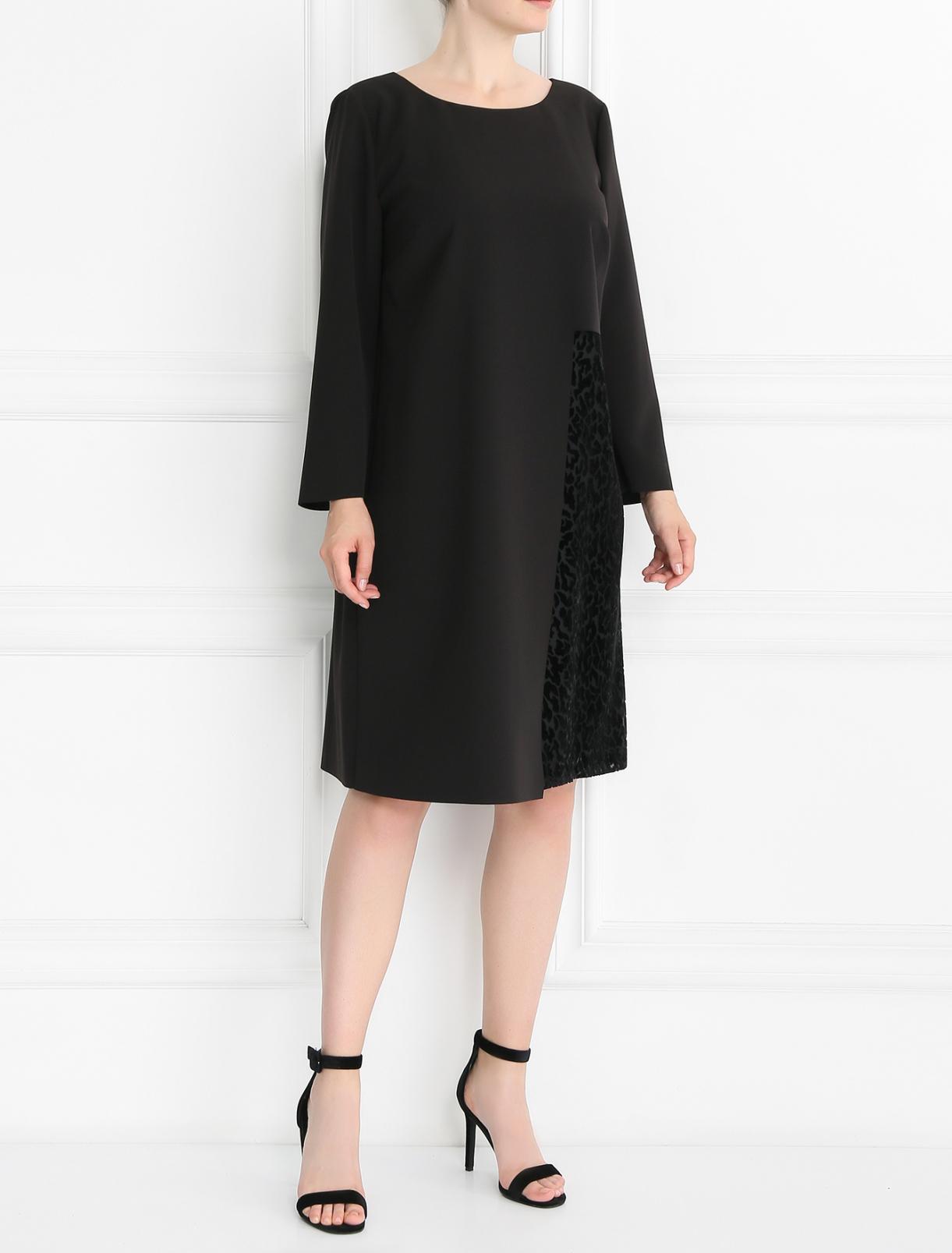Платье асимметричного кроя с узором Marina Rinaldi  –  Модель Общий вид