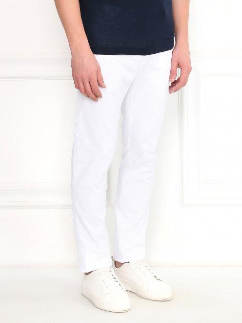 Узкие брюки из хлопка - Модель Верх-Низ