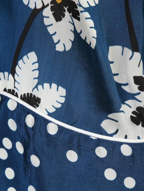 Блуза удлиненная с цветочным узором - Деталь1