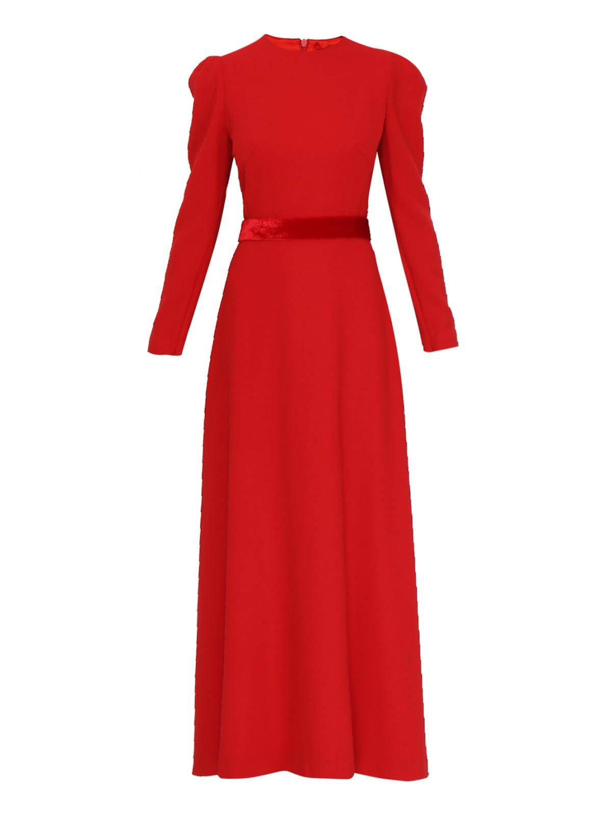 Платье А-силуэта из шерсти Yanina  –  Общий вид  – Цвет:  Красный