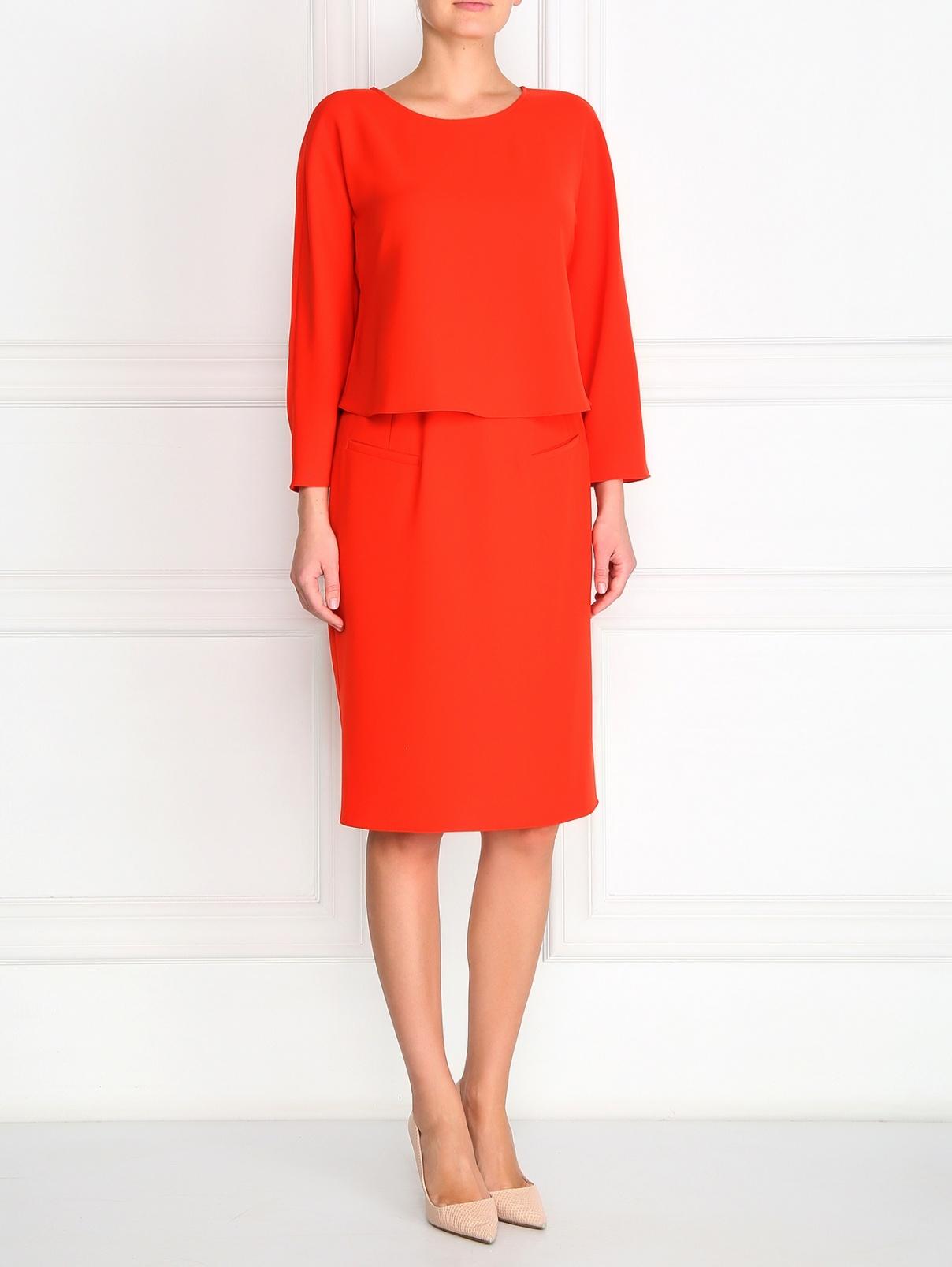 Платье прямого фасона с боковыми карманами Armani Collezioni  –  Модель Общий вид