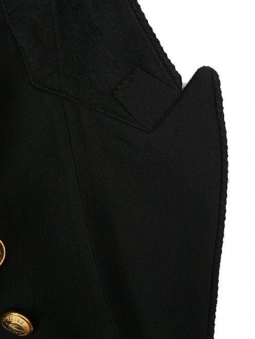 Жакет из шерсти и шелка  - Деталь1
