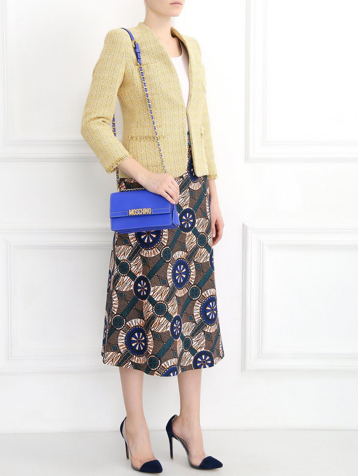 Сумка из кожи на цепочке Moschino Couture  –  Модель Общий вид