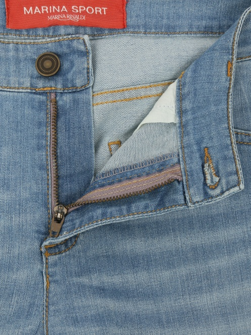 Укороченные джинсы прямого кроя - Деталь1