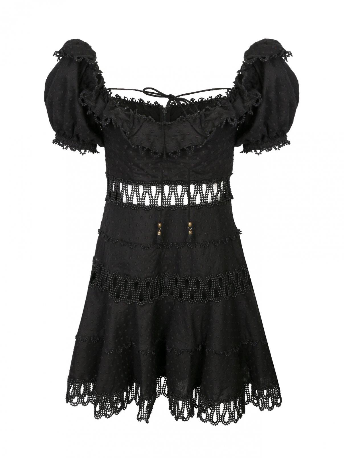 Платье из хлопка, с отделкой кружевом Zimmermann  –  Общий вид