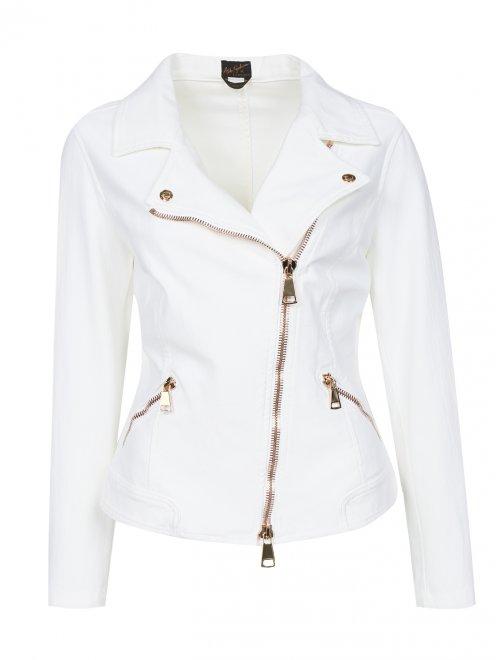 Куртка-косуха из эластичного денима - Общий вид