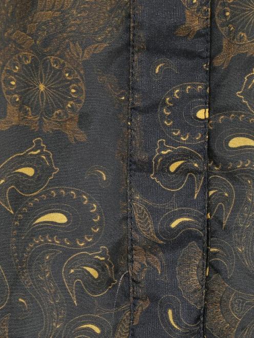 Блуза из шелка свободного кроя с узором - Деталь
