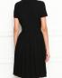 Платье с контрастной отделкой Brooks Brothers  –  МодельВерхНиз1