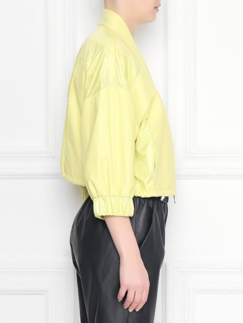 Куртка укороченая, кожаная  - МодельВерхНиз2