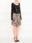 Юбка-мини из шелка с цветочным узором Marc by Marc Jacobs  –  Модель Общий вид