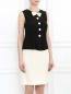 Платье-мини с бантом и декоративными пуговицами Moschino  –  Модель Верх-Низ
