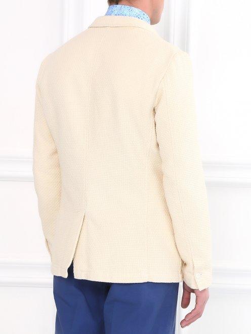 Пиджак из фактурного хлопка  - Модель Верх-Низ1