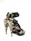 Босоножки из кожи питона на высоком каблуке Barbara Bui  –  Обтравка2