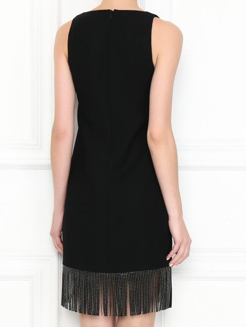 Платье из смешанной шерсти с бахромой - МодельВерхНиз1