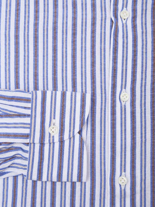 Рубашка хлопковая в полоску - Деталь1