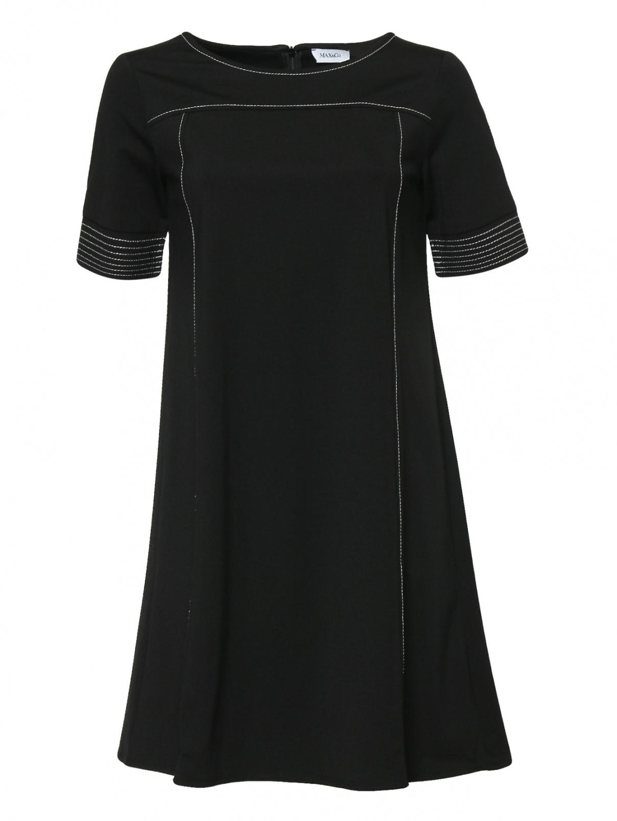 Платье-мини с контрастной отстрочкой Max&Co  –  Общий вид