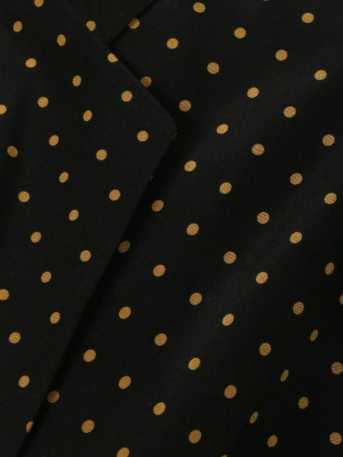 Легкое пальто из шелка с цветочным узором - Деталь1