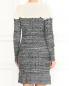 Трикотажное платье из шерсти фактурной вязки Philosophy Di Lorenzo Serafini  –  Модель Верх-Низ1