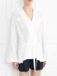 Шелковая блуза с запахом Alberta Ferretti  –  Модель Верх-Низ