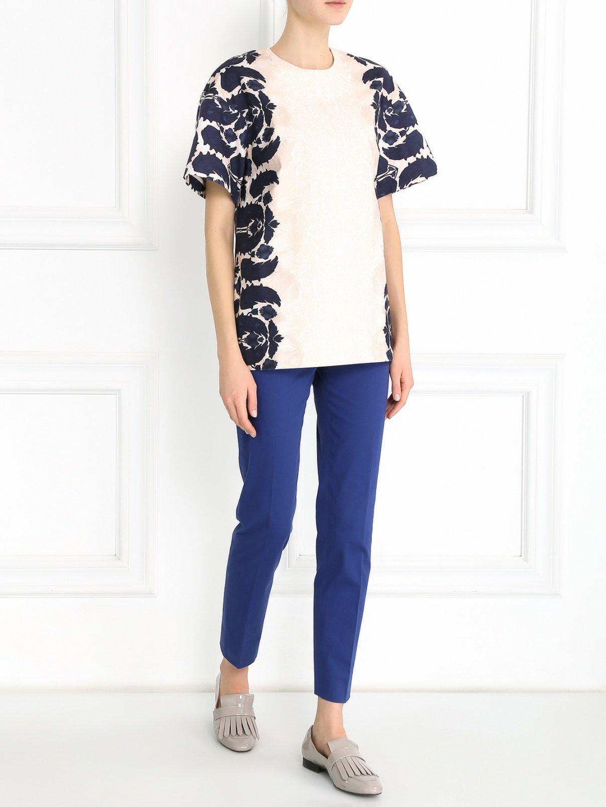 Блуза из хлопка с коротким рукавом Mother of Pearl  –  Модель Общий вид  – Цвет:  Узор