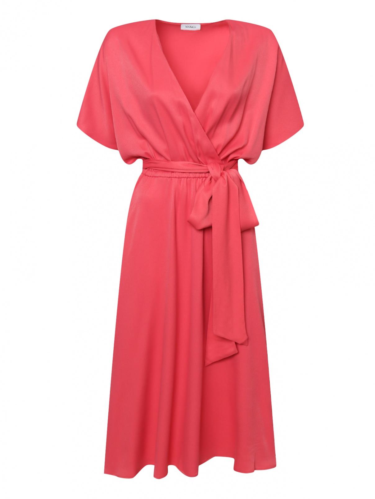Платье под пояс с короткими рукавами Max&Co  –  Общий вид