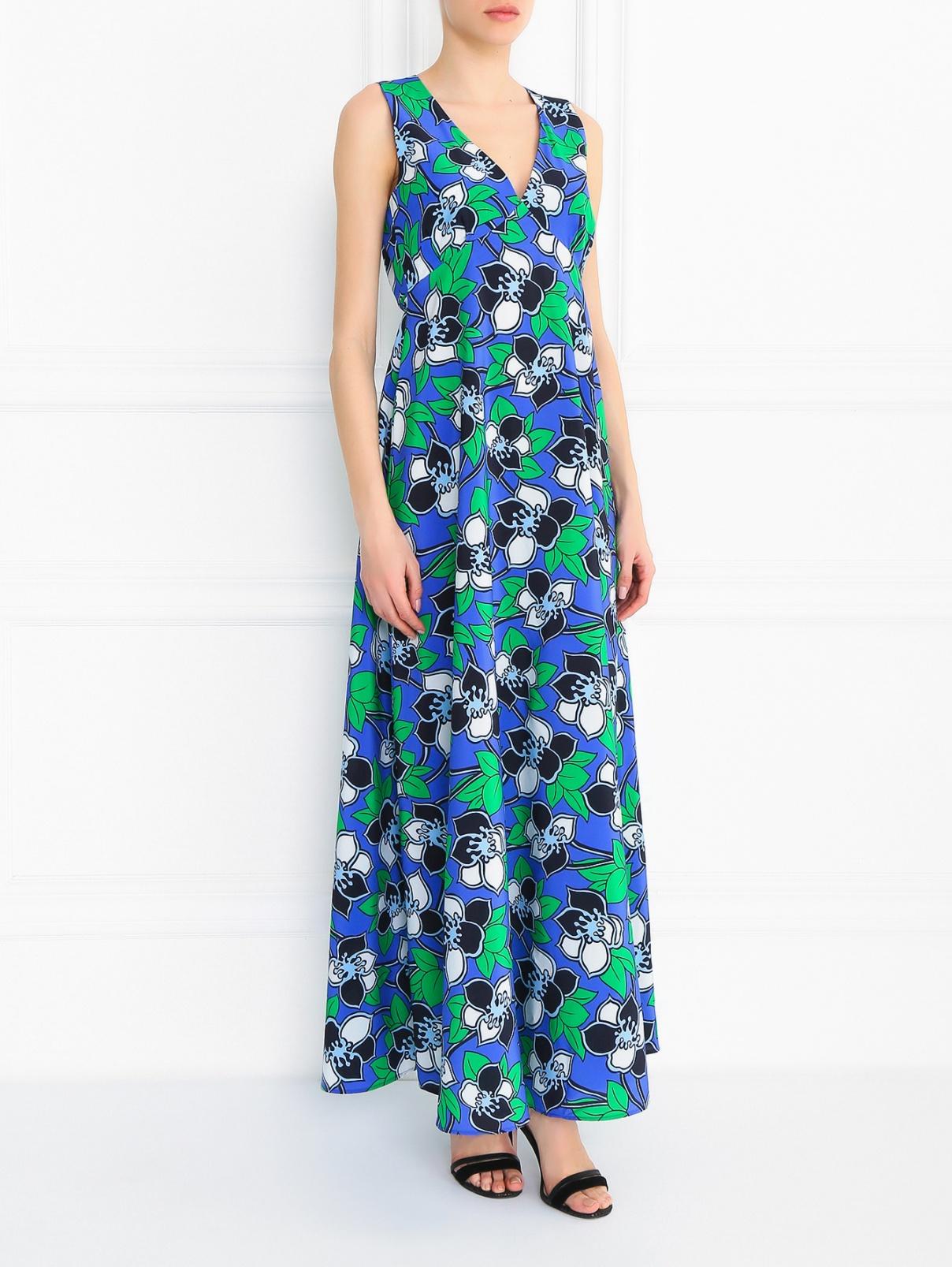 Платье-макси из шелка с узором P.A.R.O.S.H.  –  Модель Общий вид