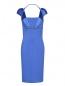Трикотажное платье-мини на широких бретелях Versace Collection  –  Общий вид
