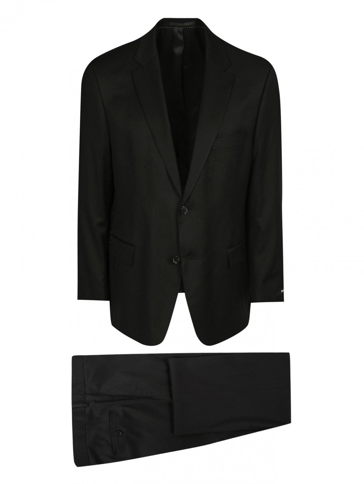 Костюм из шерсти Boss  –  Общий вид  – Цвет:  Черный
