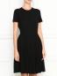 Платье с контрастной отделкой Brooks Brothers  –  МодельВерхНиз