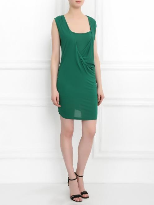 Платье-мини с драпировкой  - Общий вид